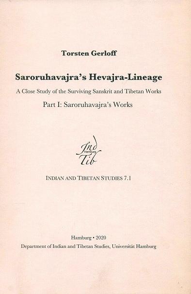 Saroruhavajra's Hevajra-Lineage: A Close Study of …