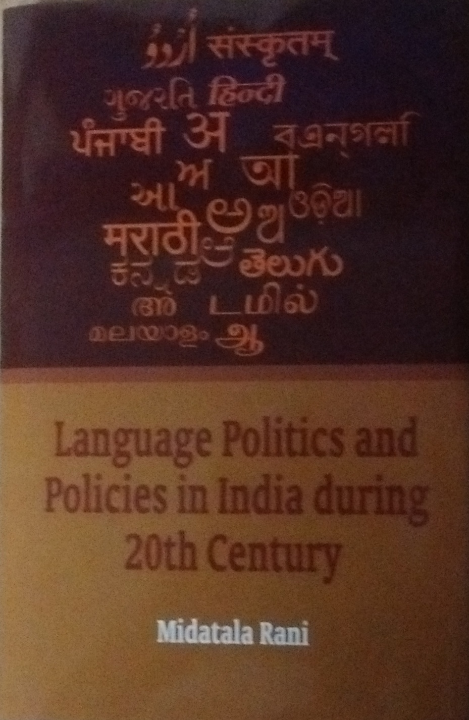 Language Politics and Policies in India During 20t…
