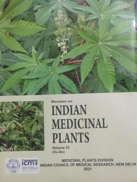 Reviews on Indian Medicinal Plants Volume 23 (Ra-R…