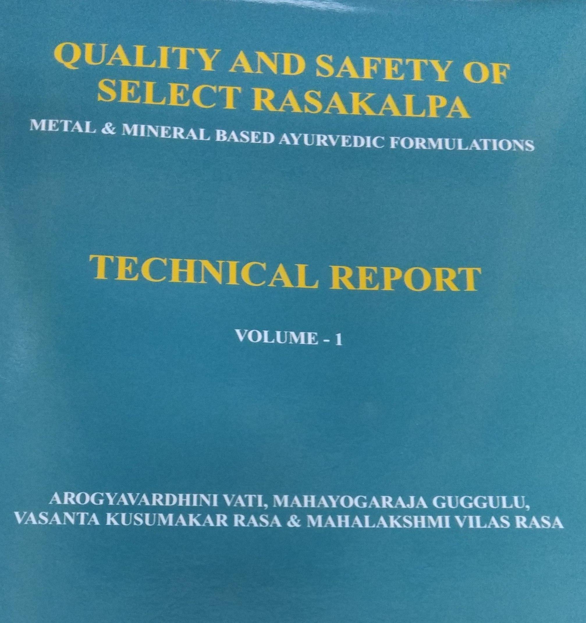 Quality and Safety of Select Rasakalpa: Metal & Mi…