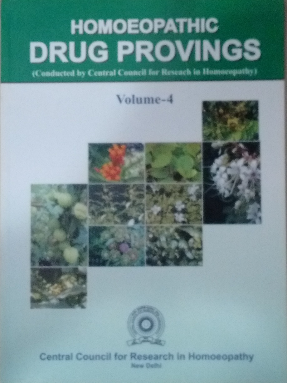 Homoeopathic Drug Provings (Conducted by Central C…