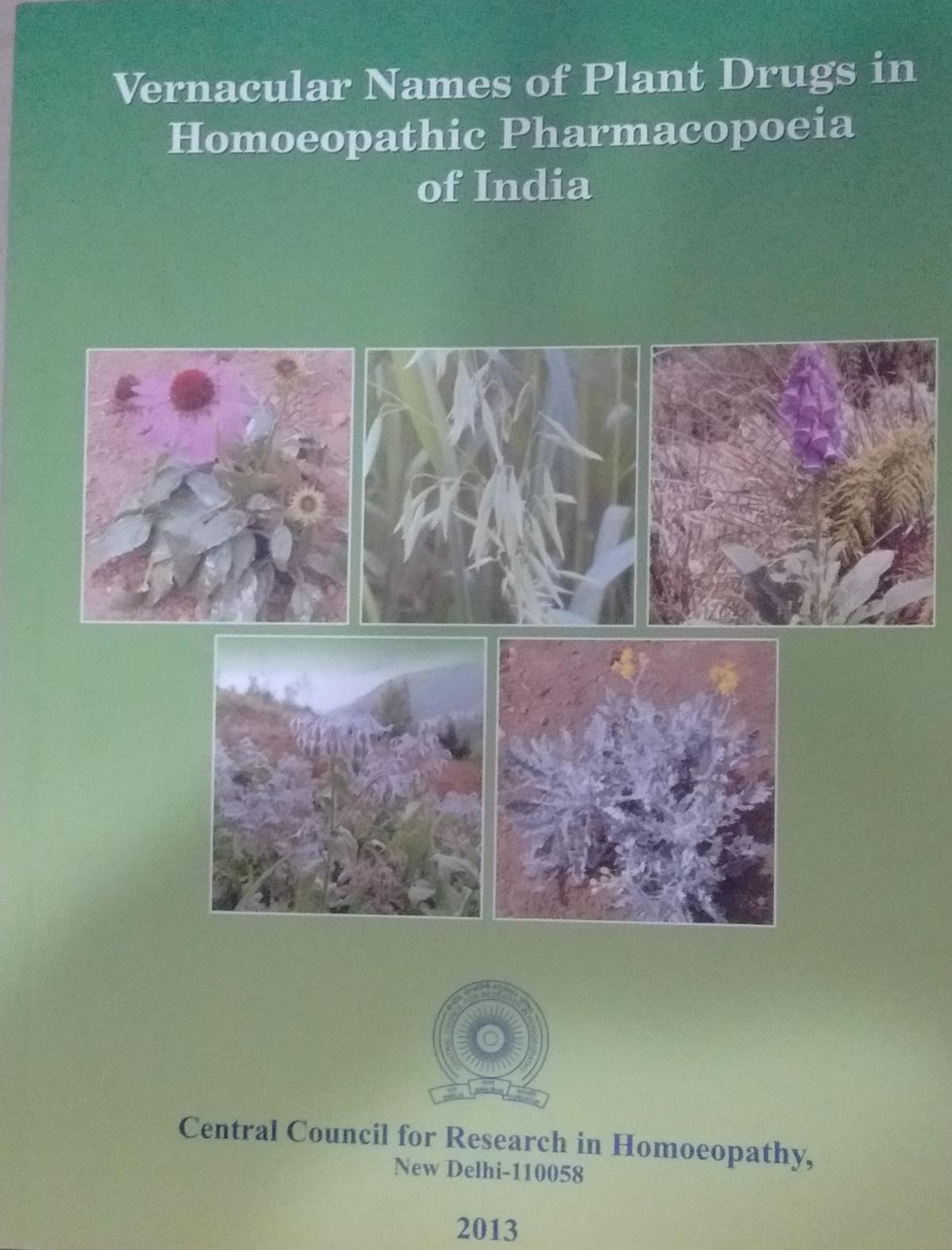Vernacular Names of Plant Drugs in Homoeopathic Ph…